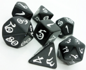 Black & White Classic RPG Dice Set